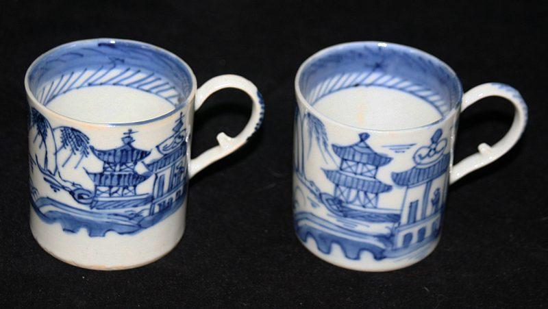 CUPS-TEA (Loop Handle, Straight Sides, Straight Line Border)