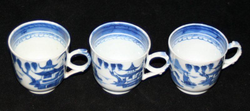 CUPS-TEA-DEMITASSE (2 Hole Handle, Cylindrical, Rain Cloud Border)
