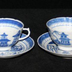 CUPS-TEA (Fluted, Loop Handle, Straight Line Border)