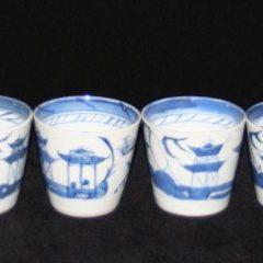 CUPS-CUSTARD (Tapered, Straight Line Border, Handleless)