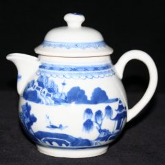 PITCHERS-CREAM-FLAGS (Pear Shape, Loop Handle, Late)