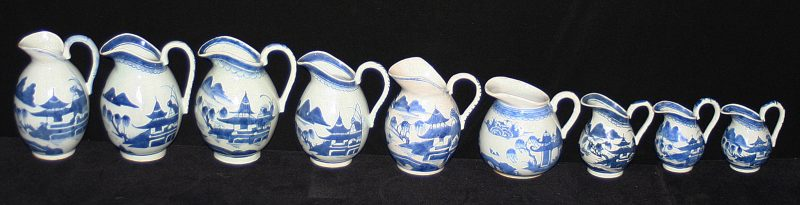 PITCHERS-CREAM (Tall Upright, Wide Lip, Loop Handle, Bulbous)
