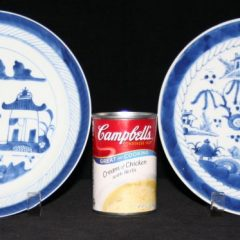 """PLATES-LUNCHEON-8+"""" (Late, Straight Line Border, Some """"CHINA"""")"""