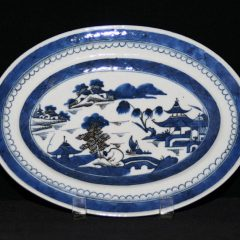 PLATTERS-OVAL (BLUE/BLACK DECORATION)