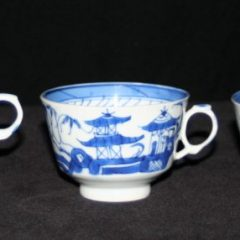 CUPS-TEA (2 Hole Handle, Straight Line Border)