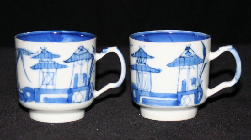 CUPS-TEA-DEMITASSE (Flat Top Handle, Cylindrical Shape, Straight Line Border)