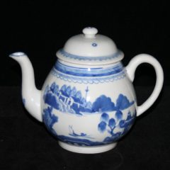 TEAPOTS-FLAGS-PEAR SHAPE (Curved Spout, Loop Handle, Late)